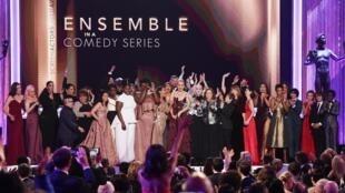 O elenco da série Orange is the new black homenageou a diversidade ao receber o SGA Awards