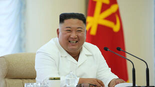 North Korea's Supreme Leader Kim Jong-un presides over a meeting of the Politburo of the Korea Worker's Party, 7 June 2020