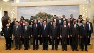 Lễ khai mạc dự án thành lập Ngân hàng Đầu tư Hạ tầng Châu Á tại Bắc Kinh, ngày 24/10/2014.