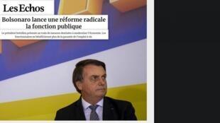 O jornal Les Echos analisa nesta quinta-feira (7) as medidas anunciadas pelo governo Bolsonaro para reformar o Estado.