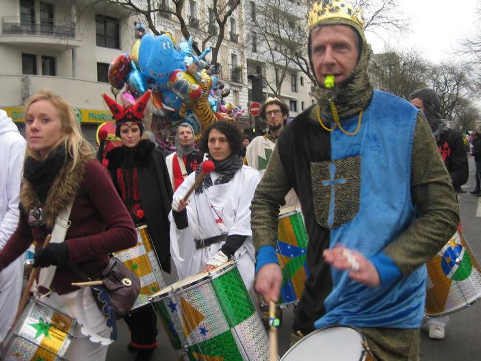 O desfile do Carnaval de Paris de 2015.