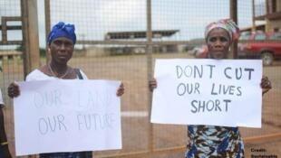 Wasu daga cikin mutanen da suka cira a yakin kasar Liberia