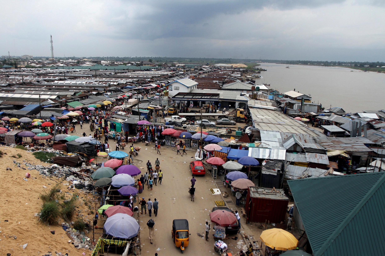 Yenagoa market, in Bayelsa, Nigeria.