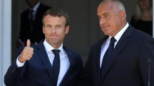 Emmanuel Macron et le Premier ministre Boïko Borissov après leur conférence de presse commune.