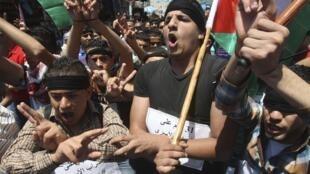 Manifestação em apoio aos prisioneiros em greve de fome
