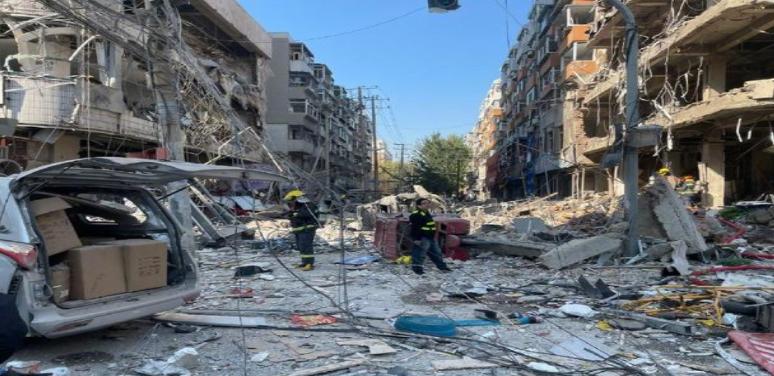 爆炸發生後救援人員趕到事發現場