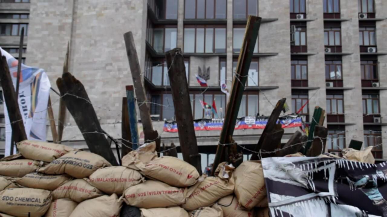 Здание Донецкой ОГА, оккупированное сепаратистами