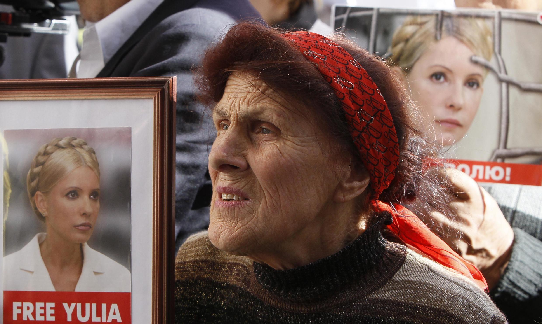 Manifestation de soutien à Ioulia Timochenko, à Kiev, le 29 août 2012.