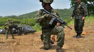 Militares en la región de Chocó, Colombia.