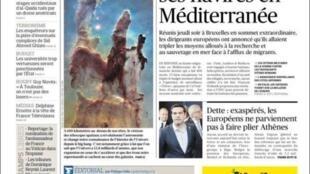 """""""Europa envia seus navios ao Mediterrâneo""""."""