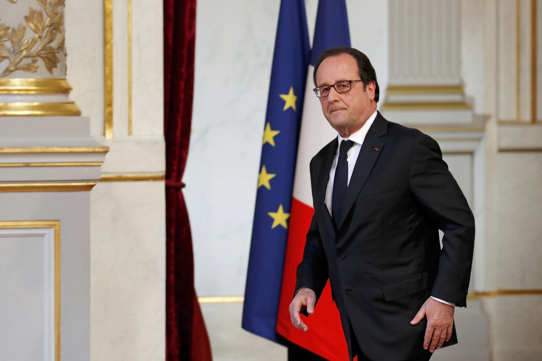François Hollande au palais de l'Elysée, le 22 juillet 2016.