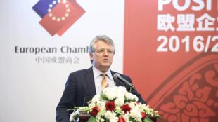 中国欧盟商会主席伍德克资料图片