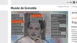 L'exposition «Sigmar Polke» présentée sur le site internet du Musée de Grenoble.