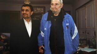 Махмуд Ахмадинежад и Фидель Кастро, 12 января 2012 года, Куба