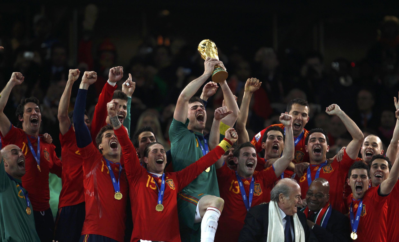 A seleção espanhola campeã 2010