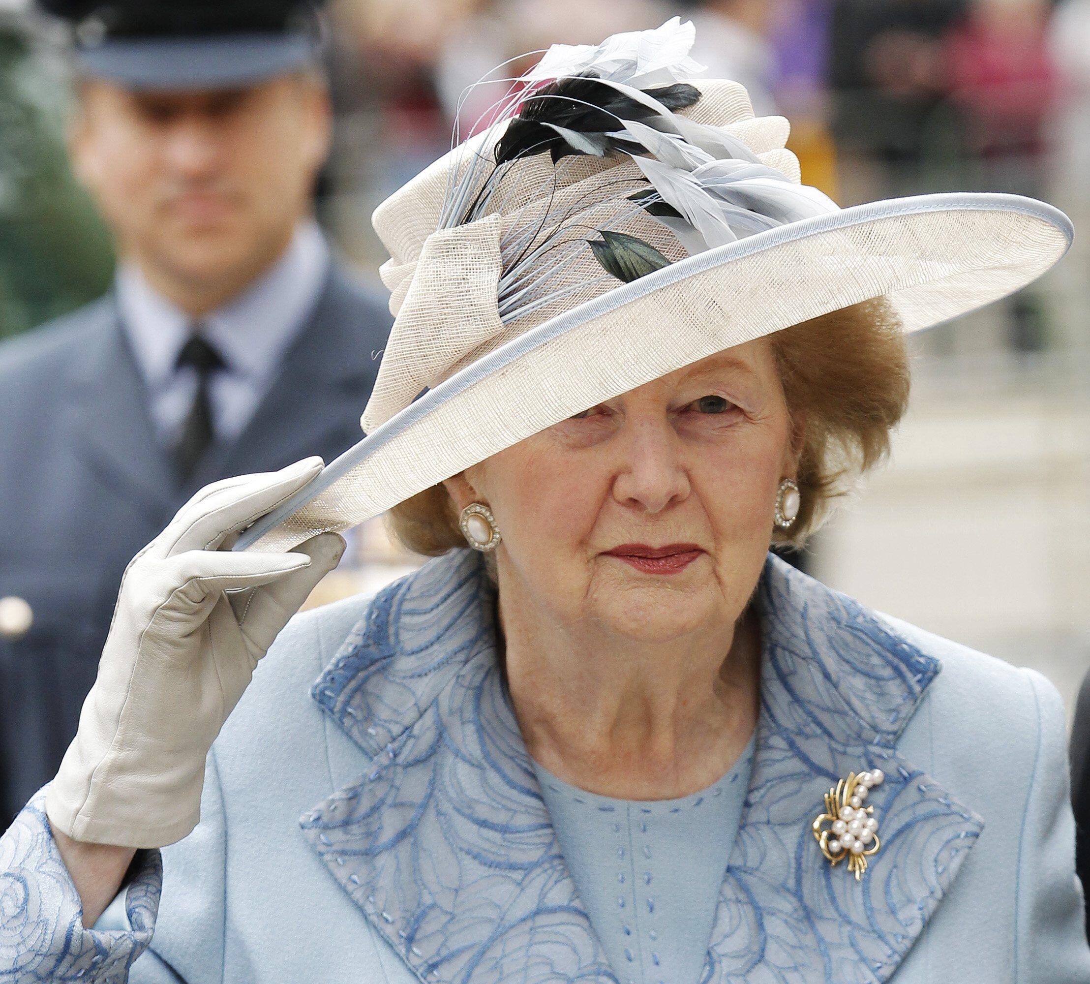 Margaret Thatcher in September 2010