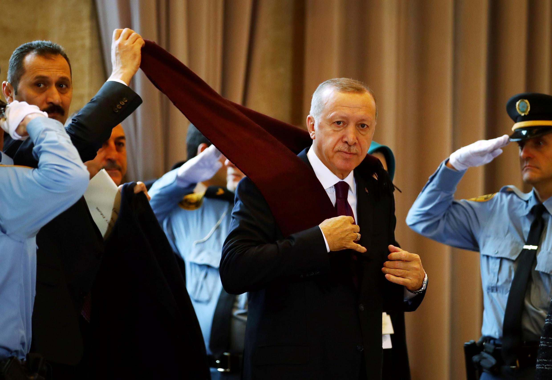 Le président turc Recep Tayyip Erdogan au Forum mondial des réfugiés à Genève le 17 décembre 2019.