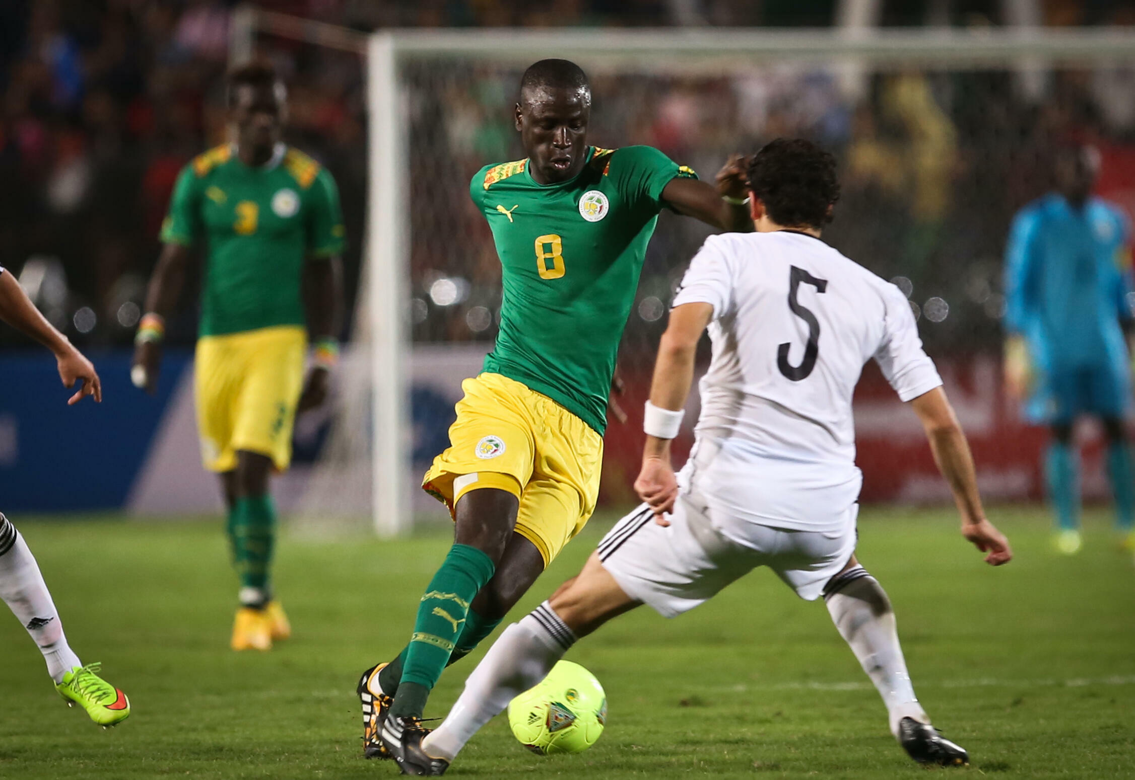 Le Sénégalais Cheikhou Kouyaté, face à l'Egypte en novembre 2014.