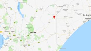 Les huit policiers ont été tués par l'explosion d'une mine artisanale entre Khorof-Harar et Konton, dans le comté de Wajir, le long de la frontière entre le Kenya et la Somalie, le 15 juin 2019.
