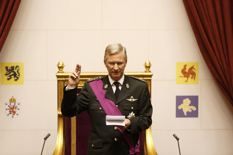 Vua Bỉ Philippe de Belgique tuyên thệ trước Quốc hội, Bruxelles, ngày 21/07/2013