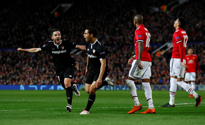 Manchester United surpris par le FC Séville.