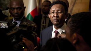 Hery Rajaonarimampianina a donné sa démission de la présidence, vendredi 7 septembre au palais présidentiel d'Iavoloha.