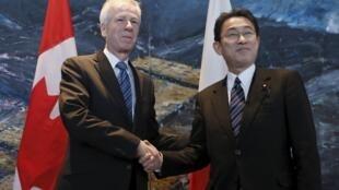 加拿大外交部长迪翁12日会晤到访的日本外相
