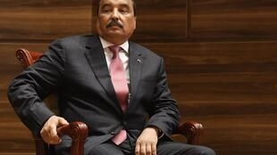 L'ancien président mauritanien Mohamed Ould Abdel Aziz lors de la cérémonie de passation de pouvoirs à l'actuel président, le 1er août 2019 à Nouakchott