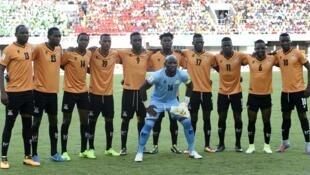 L'équipe nationale de la Zambie avant un match face au Nigeria, le 7 octobre 2017.