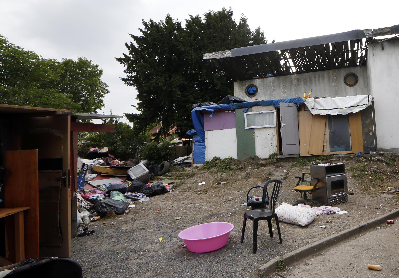 Roma camp in Pierrefitte-sur-Seine near Paris