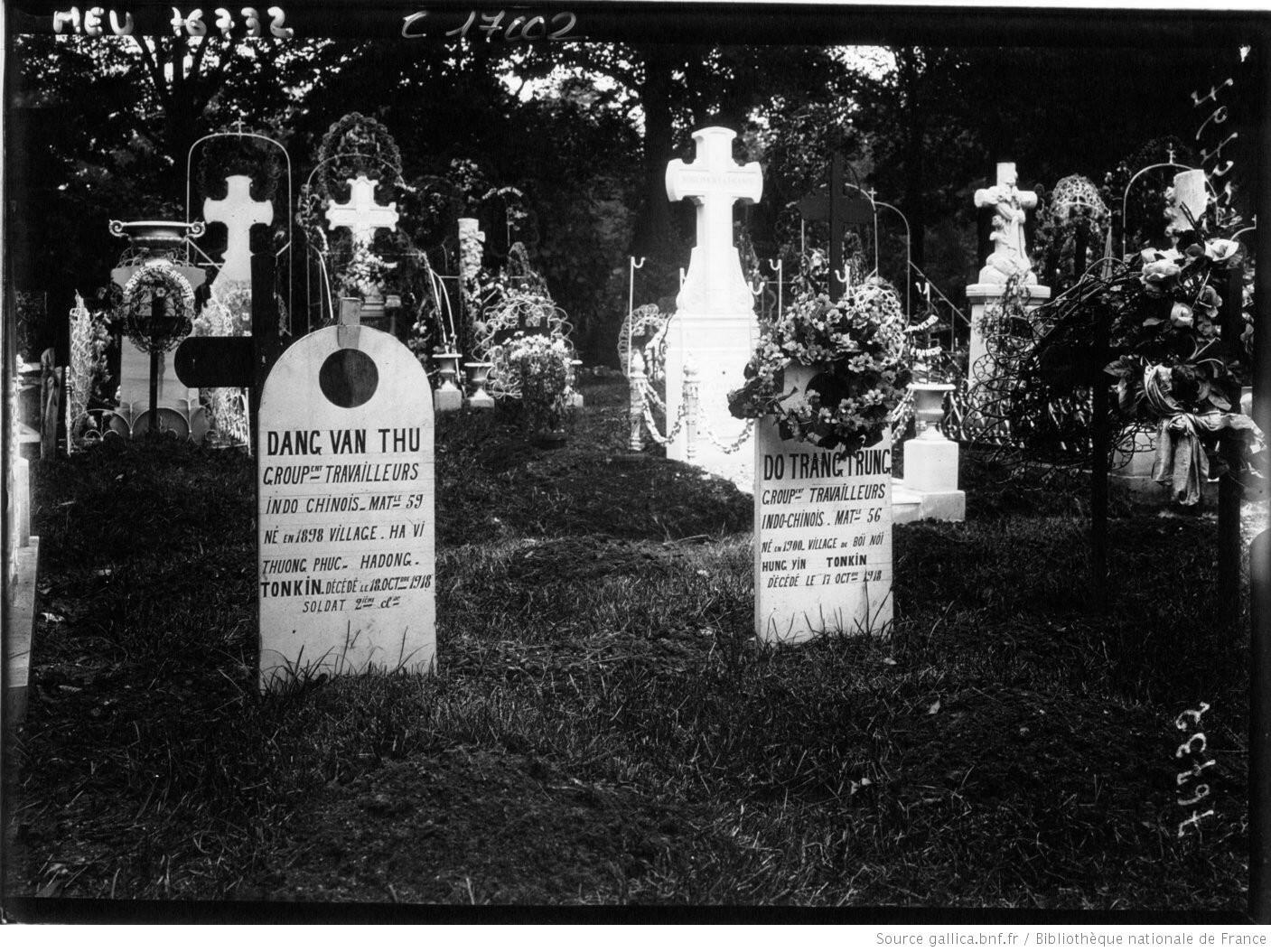 Lính thợ Đông Dương (1914-1918) yên nghỉ ở nghĩa trang Bagneux, ngoại ô Paris.