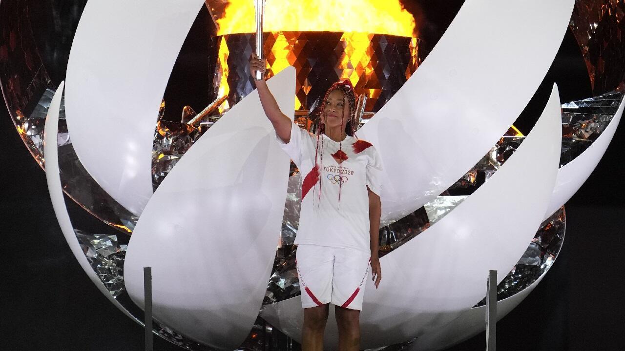 PHOTO Naomi Osaka - Flamme olympique