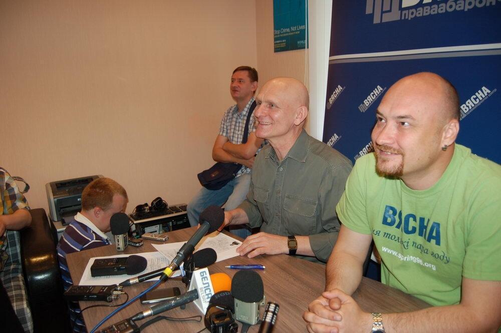 Первая пресс-конференция Алеся Беляцкого после освобождения
