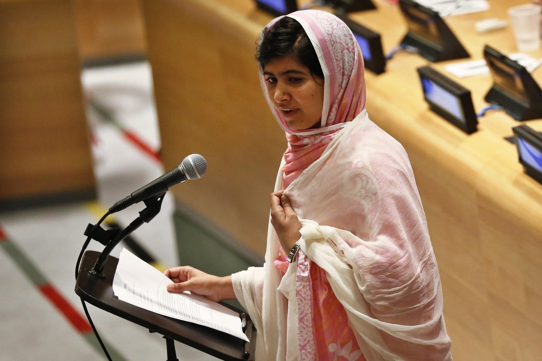 Malala Yousafzai, plaide pour le droit à l'éducation devant les Nations unies, le 12 juillet 2013