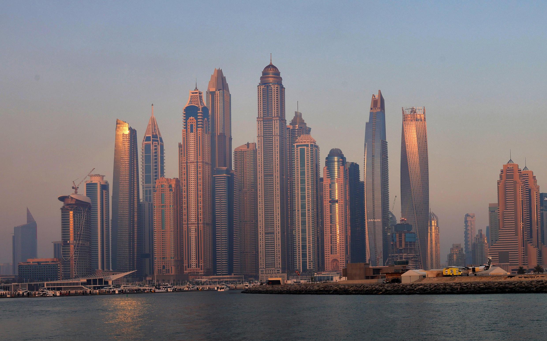 High-rise buildings at the Dubai Marina
