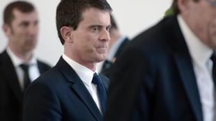 Le Premier ministre Manuel Valls en visite à l'université de Strasbourg, le 3 mars 2015.