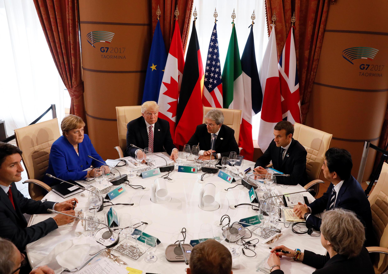 Các nguyên thủ quốc gia G7 tại thượng đỉnh Taormina - Ý, ngày 26/05/2017.