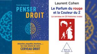 «Penser droit» de Paolo Bartolomeo et «Le parfum du rouge» de Laurent Cohen.