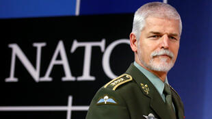 Le président du Comité militaire de l'OTAN, le général d'armée Petr Pave, lors d'une conférencede presse à Bruxelles, le 18 janvier 2017. Le général Pavel s'exprimait à l'issue d'une réunion du comité militaire de l'Otan.