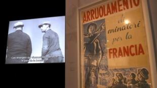 Tấm áp-phích ghi « tuyển dụng thợ mỏ sang Pháp », tại Bảo Tàng về Di Dân, Porte Dorée, Paris, ngày 31/03/2017
