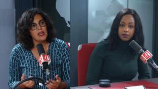 Myriam El Khomri (g) et Fabienne Barboza (d) sur RFI, le 31 octobre 2019.