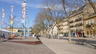 The pair were reportedly planning major attacks on the Place de la République in Metz, shown here