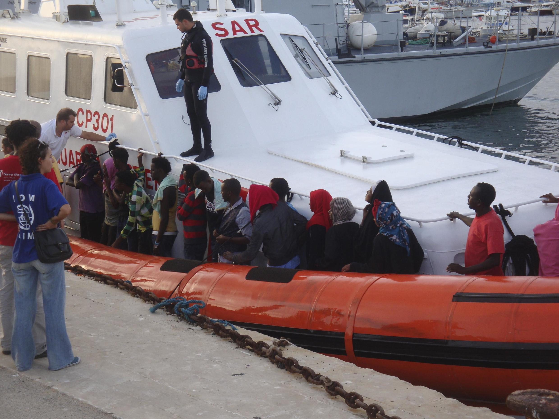 Image RFI Archive - migrants tunisiens