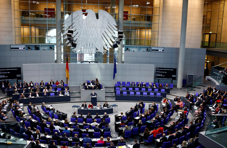 Ảnh minh họa : Phiên họp của Hạ Viện Đức ngày 01/02/2018. Dữ liệu các nhân nhiều dân biểu bị tin tặc đánh cắp.