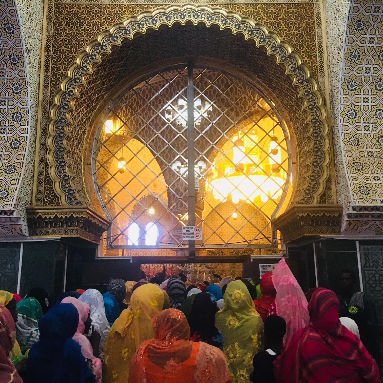 L'entrée du mausolée de Cheikh Ahmadou Bamba à Touba, au Sénégal, le 8 novembre 2017.