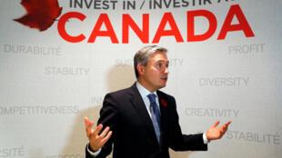 Bộ trưởng Thương Mại Canada Francois-Philippe Champagne trả lời phỏng vấn Reuters bên lề thượng đỉnh APEC, Đà Nẵng, Việt Nam, ngày 08/11/2017.