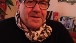 L'accordéoniste Richard Galliano chez lui à Paris.