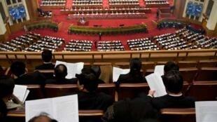 Sessão do Congresso Nacional do Povo, em Pequim.