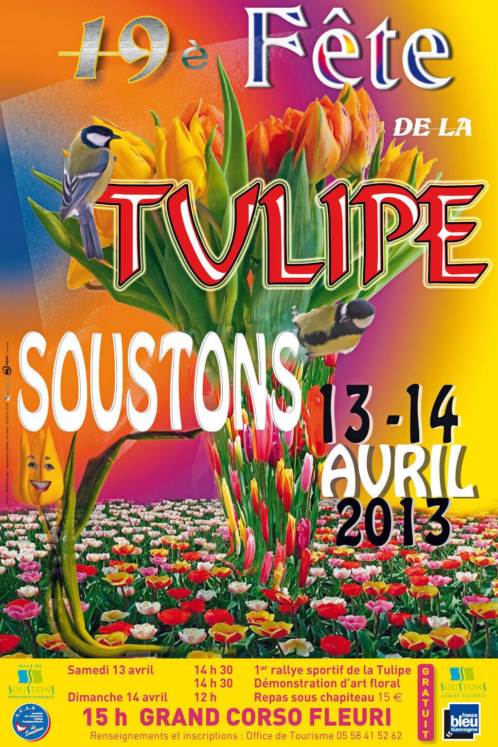 O Festival das Tulipas comemora sua 19ª edição na cidade de Soustons, sul da França.