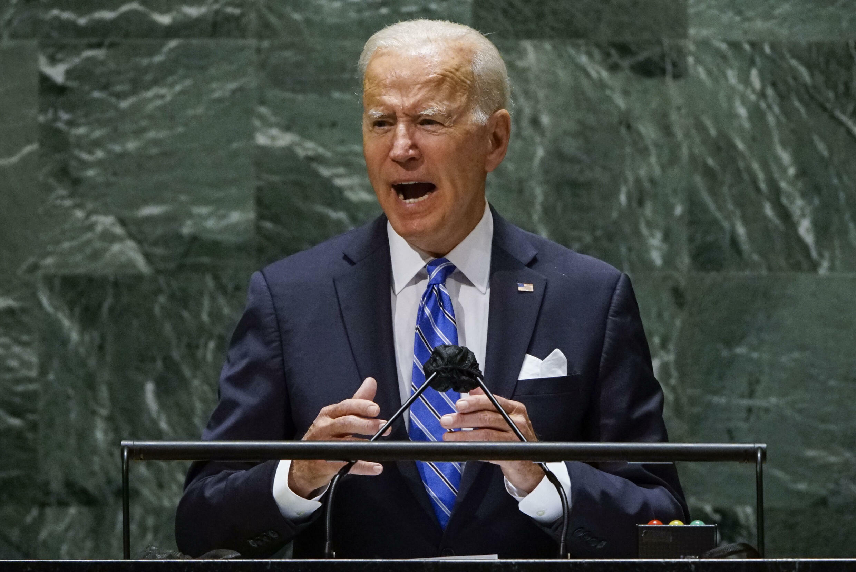 US President Joe Biden addresses the UN General Assembly